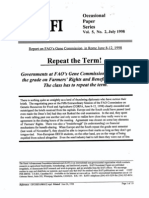 FAO's Gene Commission fail to make the grade on Farmers' Rights and Benefit Sharing