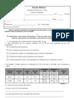 Ficha de Avaliação_Alimentação e Nutrientes_6ºAno
