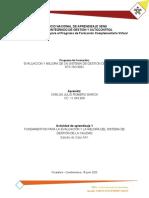 ACTIVIDAD 1 -CASO AA1 - EVALUACION Y MEJORA DE UN SISTEMA DE GESTION DE LA CALIDAD - NTC ISO 9001