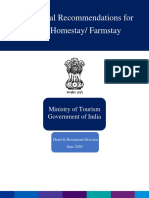 Operational Recommendations for  Homestay,India