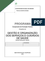 Gestão e Organização dos serviços e Cuidados de Saúde