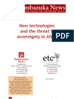 New Technologies and the Threat to Sovereignty in Africa