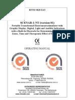 SCENAR Operating Manual 1-NT Ver 01