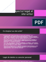 Aspectul legal al site-urilor