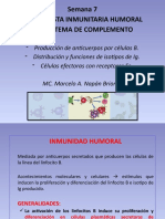 Clase 7 - La respuesta inmunitaria humoral y el sistema de complemento