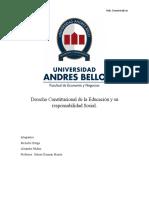 Derecho Constitucional de la Educación y su responsabilidad Social