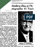 William Eckenberg Dies at 76