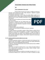 ESPECIFICACIONES TECNICAS DE ESTRUCTURAS