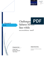 Challenges and failures MNEs face while recruiting and selecting