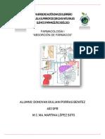 ABSORCIÓN DE FARMACOS-FARMACOLOGÍA