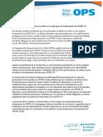 CP Salud OPS Declaración sobre ivermectina para COVID-19, 19jun20 (1)