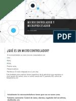 Microcontrolador y microprocesador