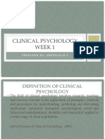 WK1-CLINICAL PSYCHOLOGY