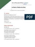 01_ENE 01 2011 ~ Santa María Madre de Dios