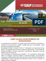 VALIDACION DE INSTRUMENTOS  DE RECOLECCION