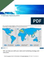IDC IT Services Taxonomy 2019
