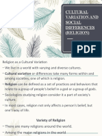 CULTURAL VARIATION AND SOCIAL DIFFERENCES (RELIGION).pptx
