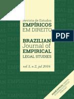 2016 - V3 N2 - Revista de Estudos Empíricos Em Direito