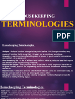 HOUSEKEEPING TERMINOLOGIES