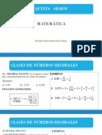Quinta sesión de matemática