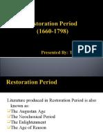 Restoration Period (1660-1798)