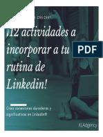 12 Actividades a Incluir a Tu Rutina de Linkedin x Lannes