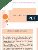 ORGANES DE FREIN