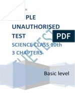 SCIENCE CLASS 10TH SAMPLE UNAUTHORISED TEST - Copy - Copy - Copy-converted