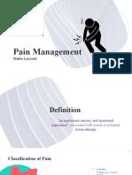 Pain Management -laras