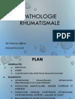Cours kiné Pathologie rhumatismale 2