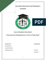 Law of Evidence Vth Semester