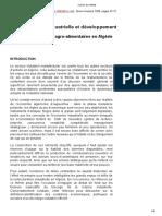 Restructuration industrielle et développement Le cas des industries agroalimentaires en Algérie.pdf