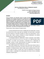 A CONTRIBUICAO DA LITERATURA PARA A FORMACAO CIDADA