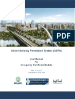 OBPS -Occupancy User manual-Version2.0