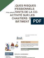 QUELQUES RISQUES  PROFESSIONNELS  RÉSULTANTS DE LA CO-  ACTIVITÉ