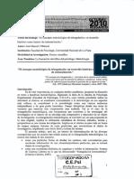SI 16. Villarreal (2010). El concepto metodológico de triangulación un recorrido histórico como intento de sistematización