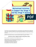 Motivation - Motivating Activities Booklet - Teacher Notes