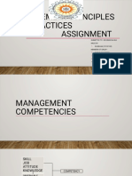 Management principles and practices Topic