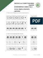2. CURSO DE LOGICA Y MATEMATICA FASE 1 patrones, algebra Y gEOMETRIA