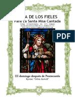III Domingo Después de Pentecostes. Guía de los fieles para la santa misa cantada. Kyrial Orbis Factor