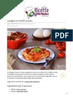 Ricette Lasagne di Pane Carasau