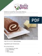 Ricette Rotolo al Cacao con Cioccolato Bianco