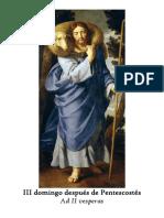 II Vísperas gregorianas del III domingo después de Pentecostés