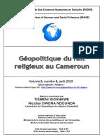 Geopolitique du Fait Religieux Au Cameroun