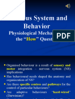 Lecture 4.1 (with audio) Nervous System & Behaviour