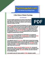 Western History of Social Psychology