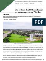 Cota ao contrário_ cotistas da UFMS precisaram de notas maiores que demais em até 76% das turmas - Jornal Midiamax