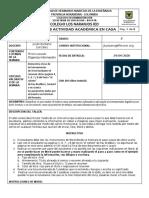 TALLER TECNOLOGÍA TERCERO SEGUNDO PERIODO SEMANA 2 y 3