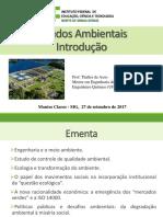 Aula 01 - Introdução Estudos Ambientais