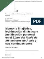 Memoria linajística, legitimación dinástica y justificación personal en el Libro del linaje de los señores de Ayala y sus continuaciones.pdf